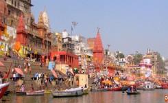 boat ride on the Ganga River in varanasi