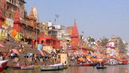 boat ride on the Ganga River in varanasi