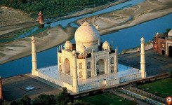 Taj Mahal view from top - indiator