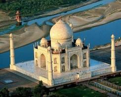 Taj Mahal view from top - indiator