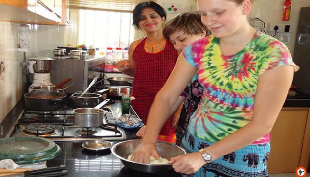 Cooking Session And Dinner With An Indian Family