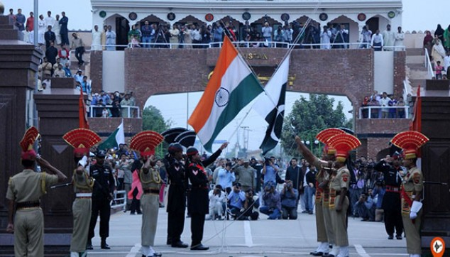 Wagah-Attari border Flag Lowering ceremony