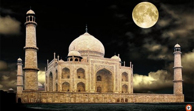 Visit Taj Mahal at Night - indiator
