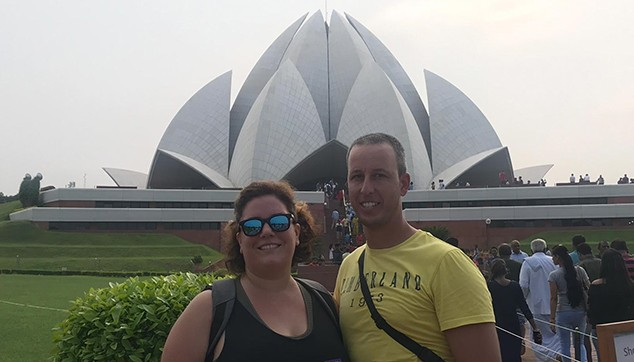indiator Client Visited Lotus Temple