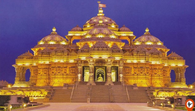 Akshardham Temple Tour And Light Show With Dinner