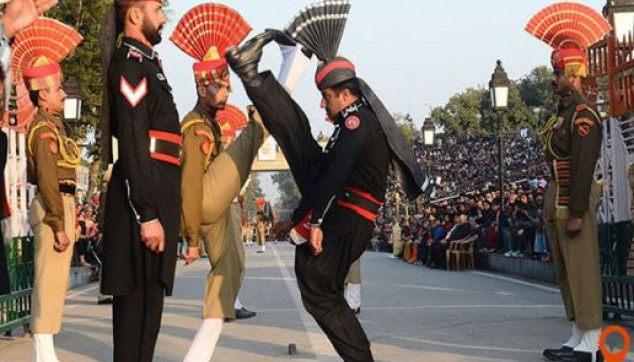 Wagah Border Indo Pak Beating Retreat followed by dinner