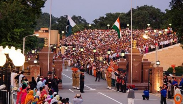 Wagah Border Indo Pak Beating Retreat ceremony